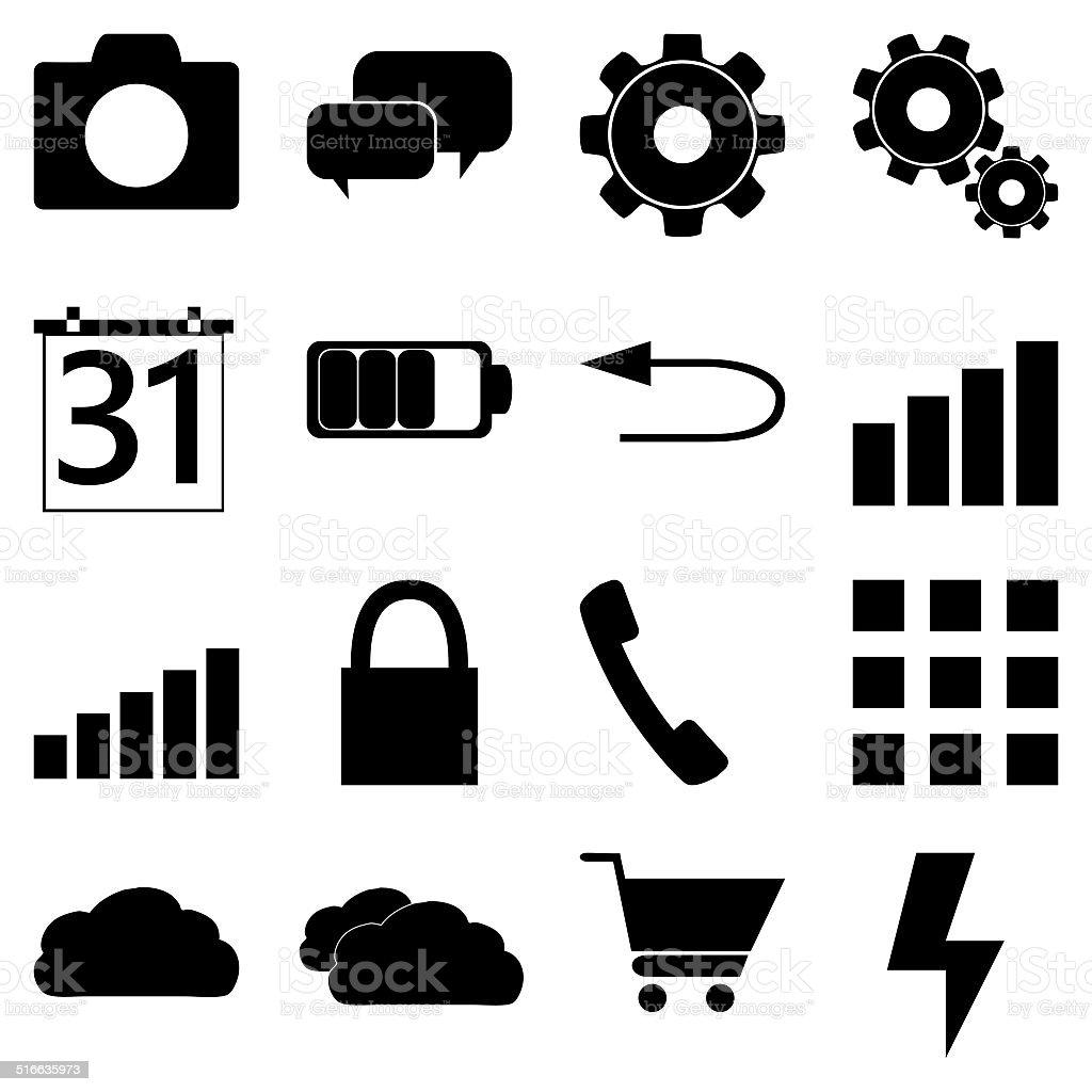 mobile icons stock photo