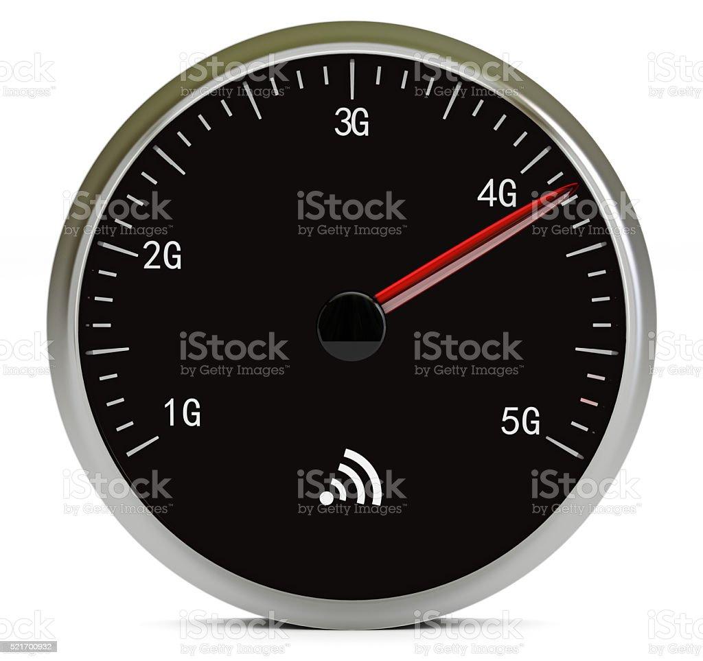 Mobile internet speed stock photo