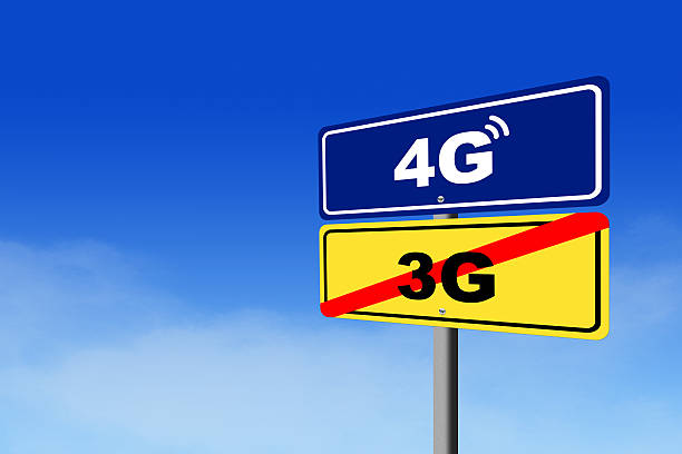 a 3 g - 4 g tecnologia internet mobile - 4g foto e immagini stock
