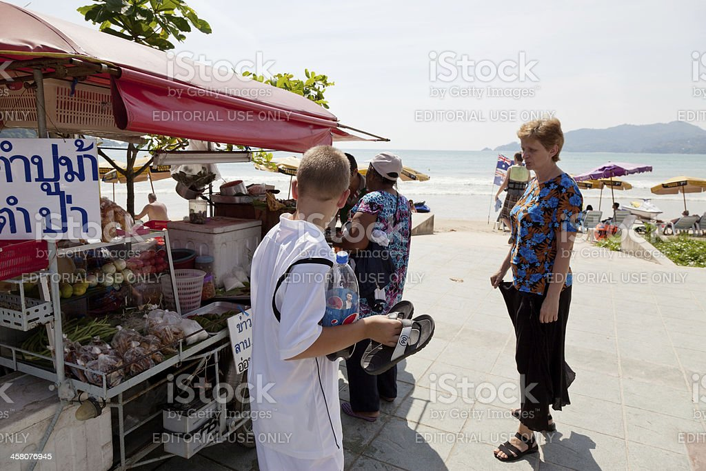 Mobile Kitchen in Patong beach royalty-free stock photo