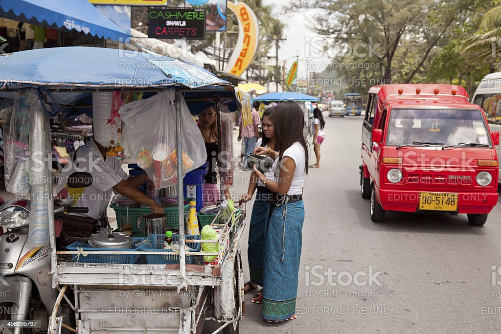 Mobile Kitchen in Thailand, Focus on Dishware royalty-free stock photo