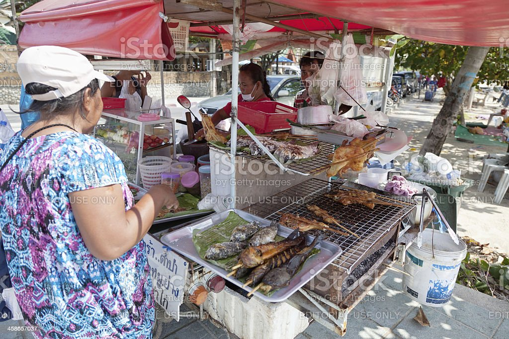 Mobile Kitchen in Thailand royalty-free stock photo