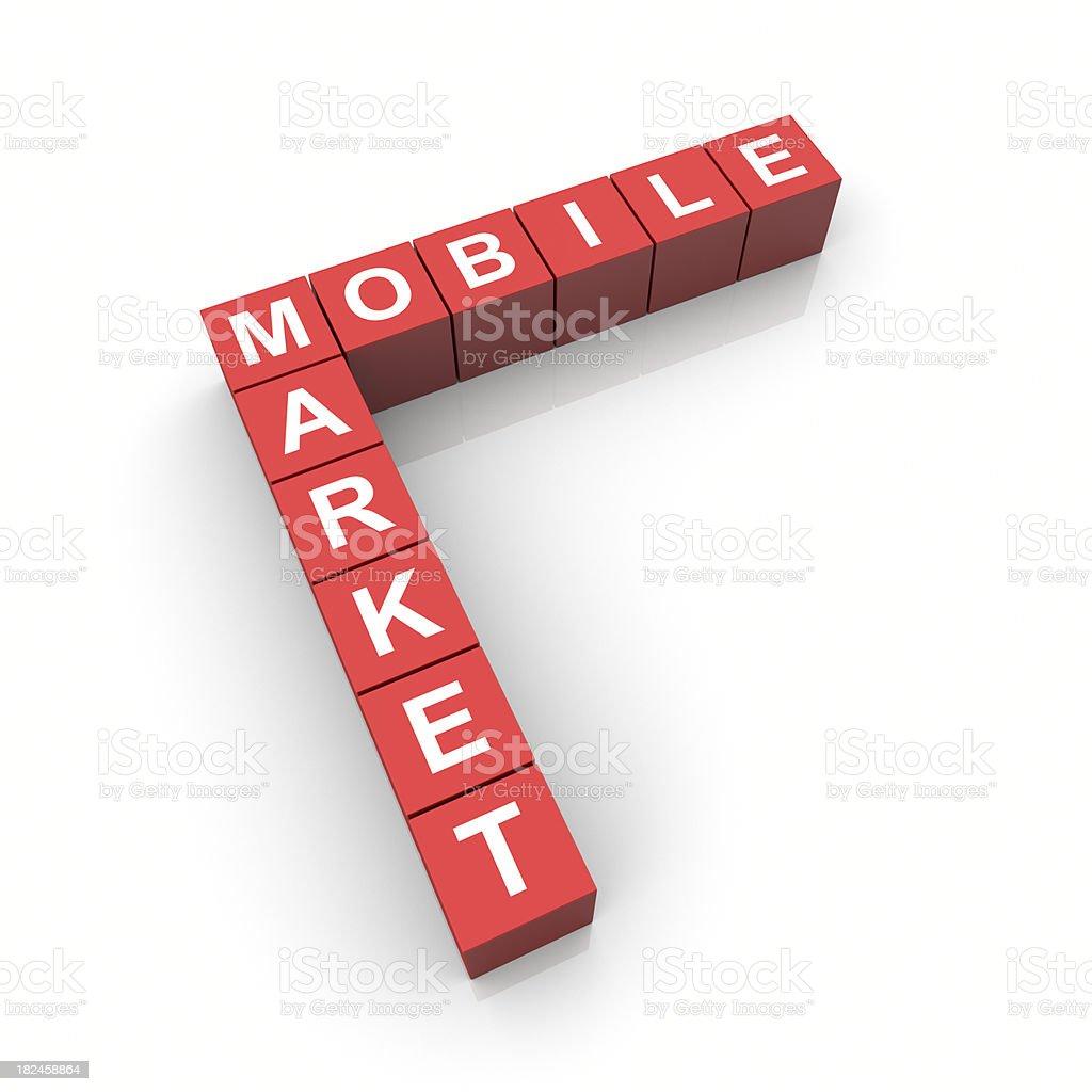 El mercado móvil foto de stock libre de derechos
