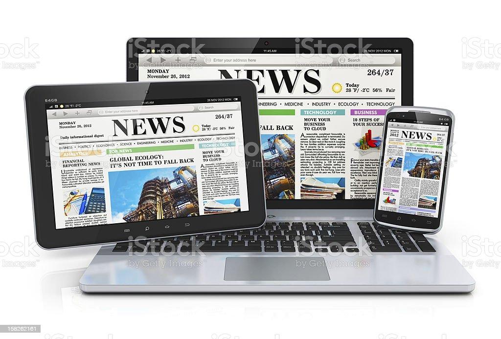 Mobile media devices stock photo