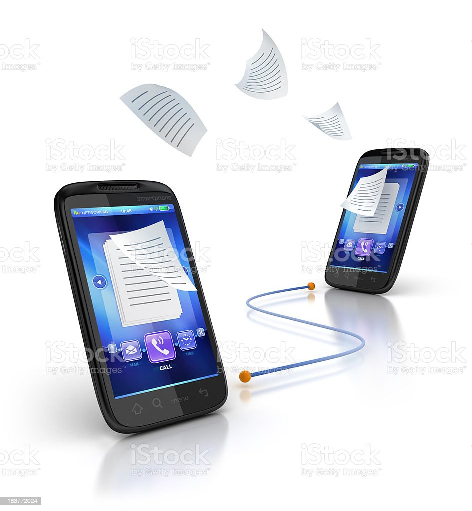 mobile messages and mail stock photo