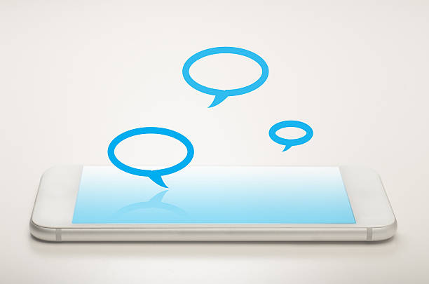 Mobile messaging stock photo