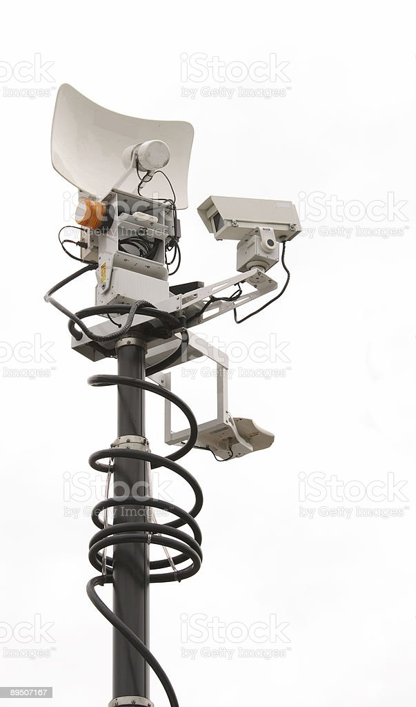 Mobile News Tower royalty-free stock photo
