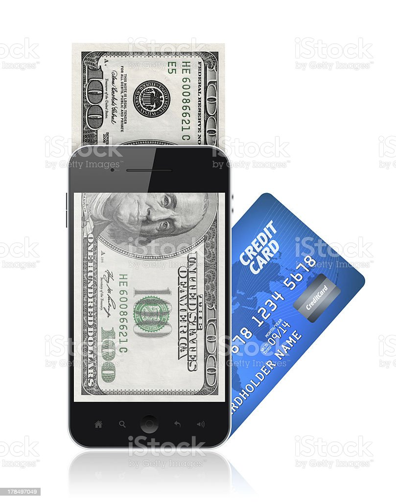 Mobile payment concept royalty-free stock photo