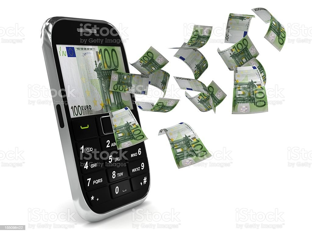 Mobile Payment - Euro royalty-free stock photo