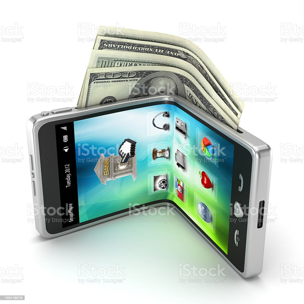 Mobile payment royalty-free stock photo