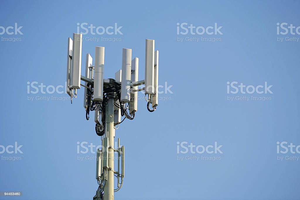 Mobile Phone Antenna Tower royalty-free stock photo