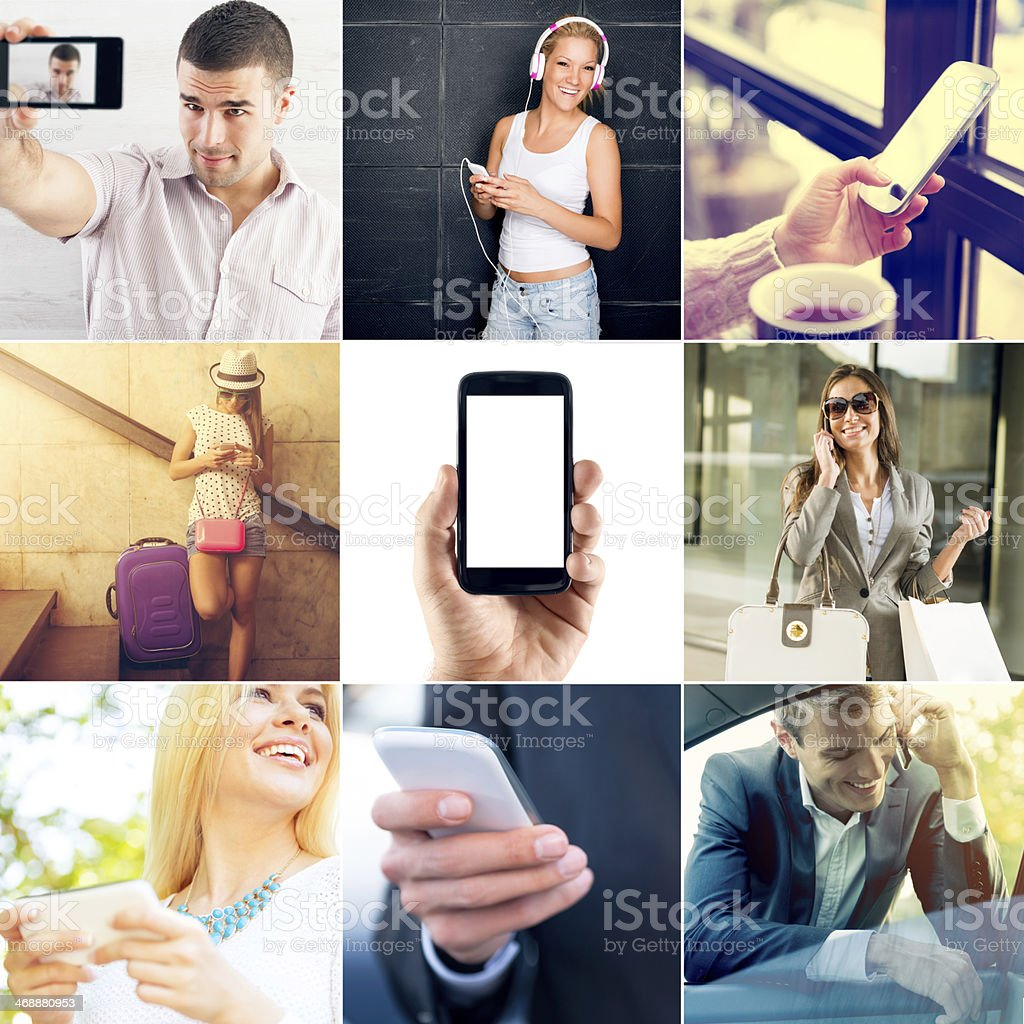 Mobile Phone Anywhere stock photo