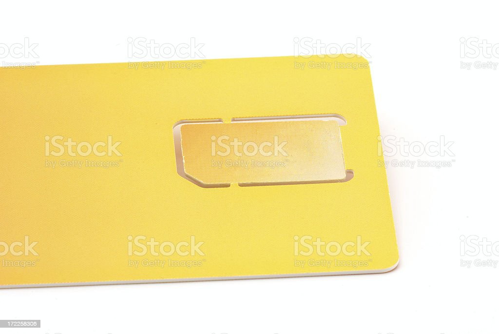 Mobile phone break-out sim card royalty-free stock photo
