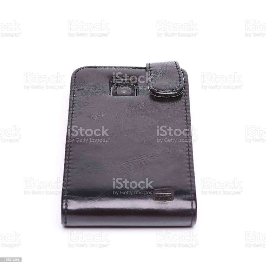 Mobile phone case on a white background royalty-free stock photo