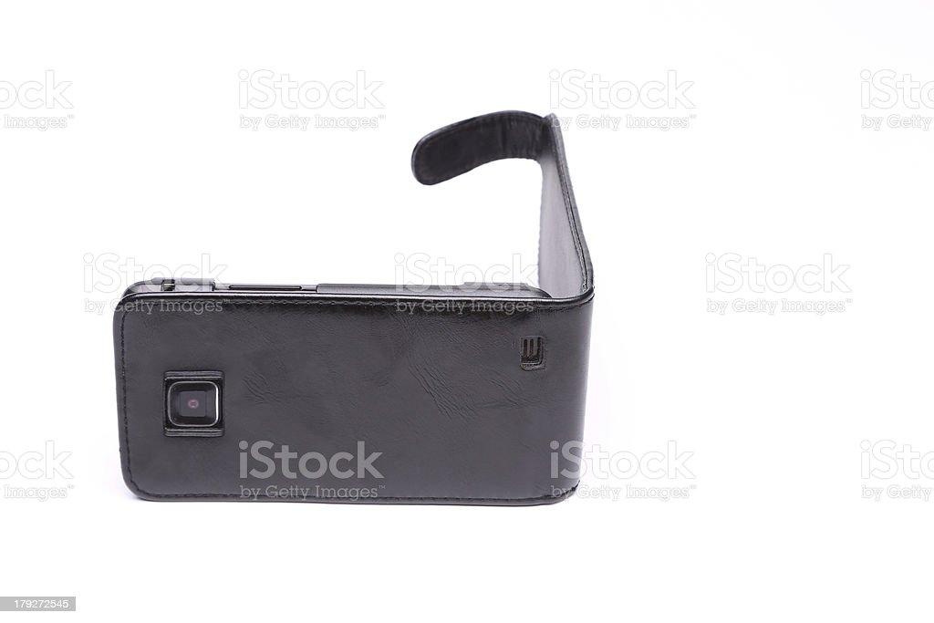 Custodia Per Telefono Cellulare Su Uno Sfondo Bianco Fotografie