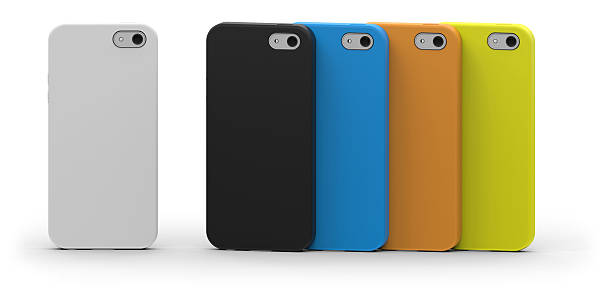 Mobile phone cases stock photo