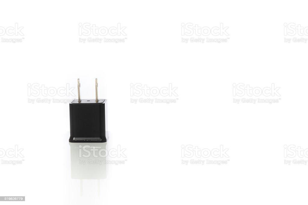 Caricabatterie Per Telefono Cellulare Su Uno Sfondo Bianco