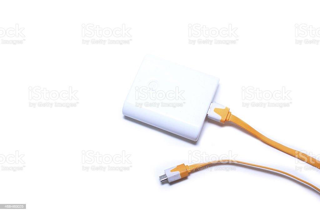 Caricabatterie Per Telefono Cellulare Su Sfondo Bianco Fotografie