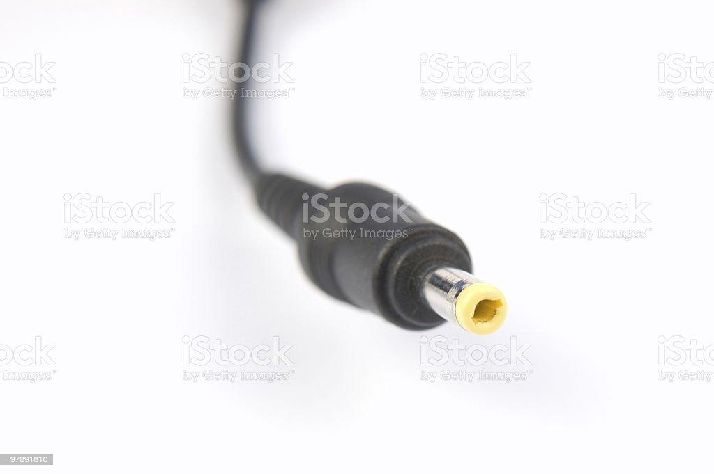 Mobile Phone Charging Jack Plug royalty-free stock photo