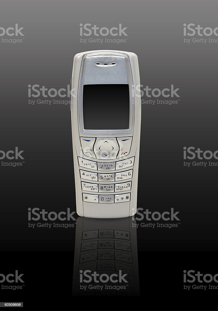 Mobile phone - dark background royalty-free stock photo