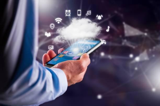 Handy-Download-Informationen von cloud – Foto