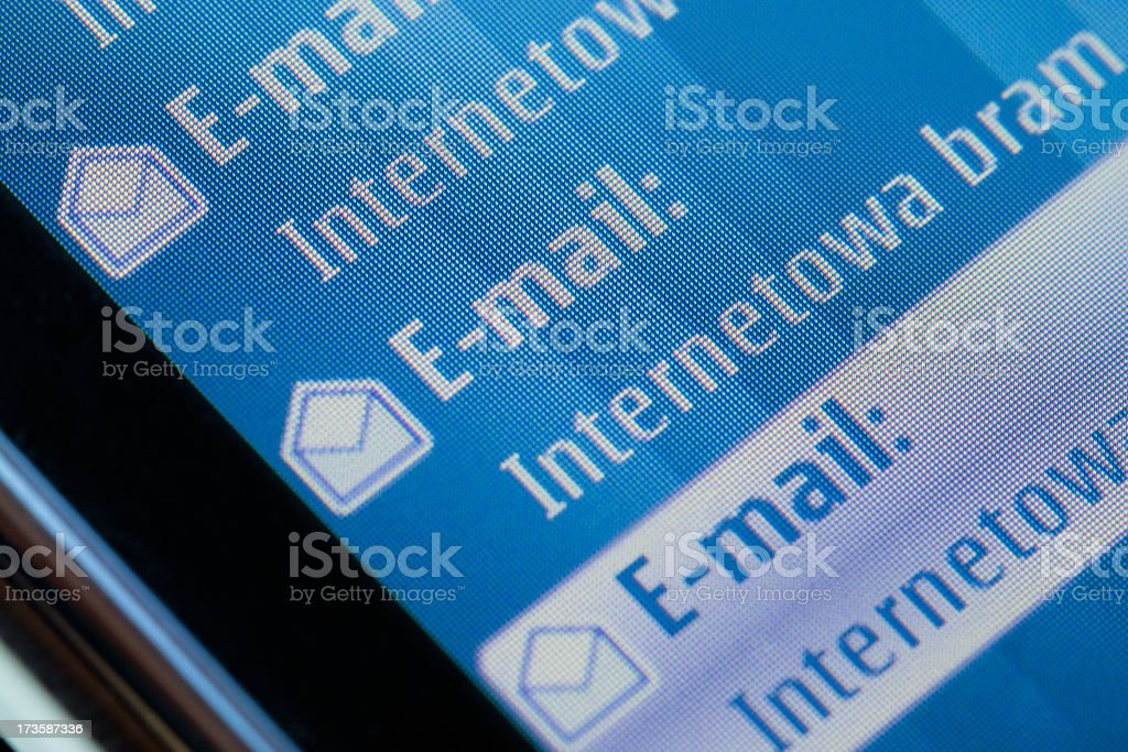 Mobile phone e-mail royalty-free stock photo