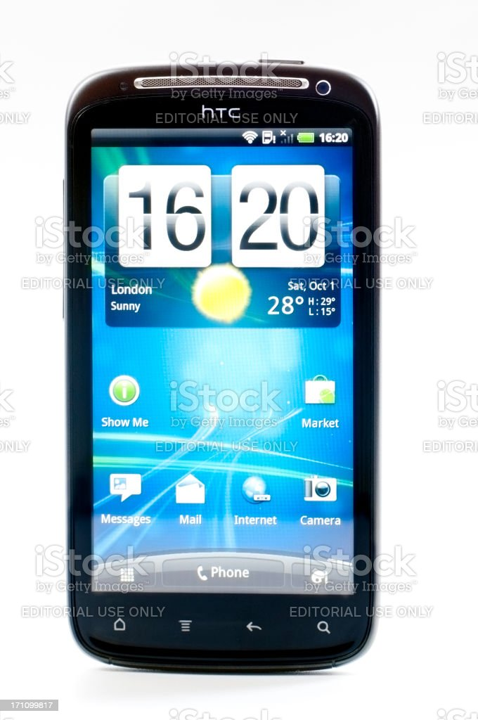 HTC Mobile Phone HomePage royalty-free stock photo
