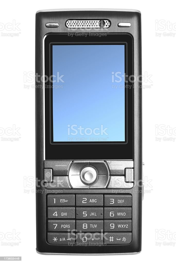 Mobile Phone Isolated On White royalty-free stock photo