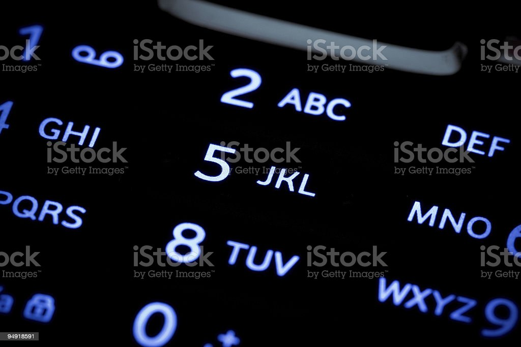 Mobile Phone Keyboard royalty-free stock photo