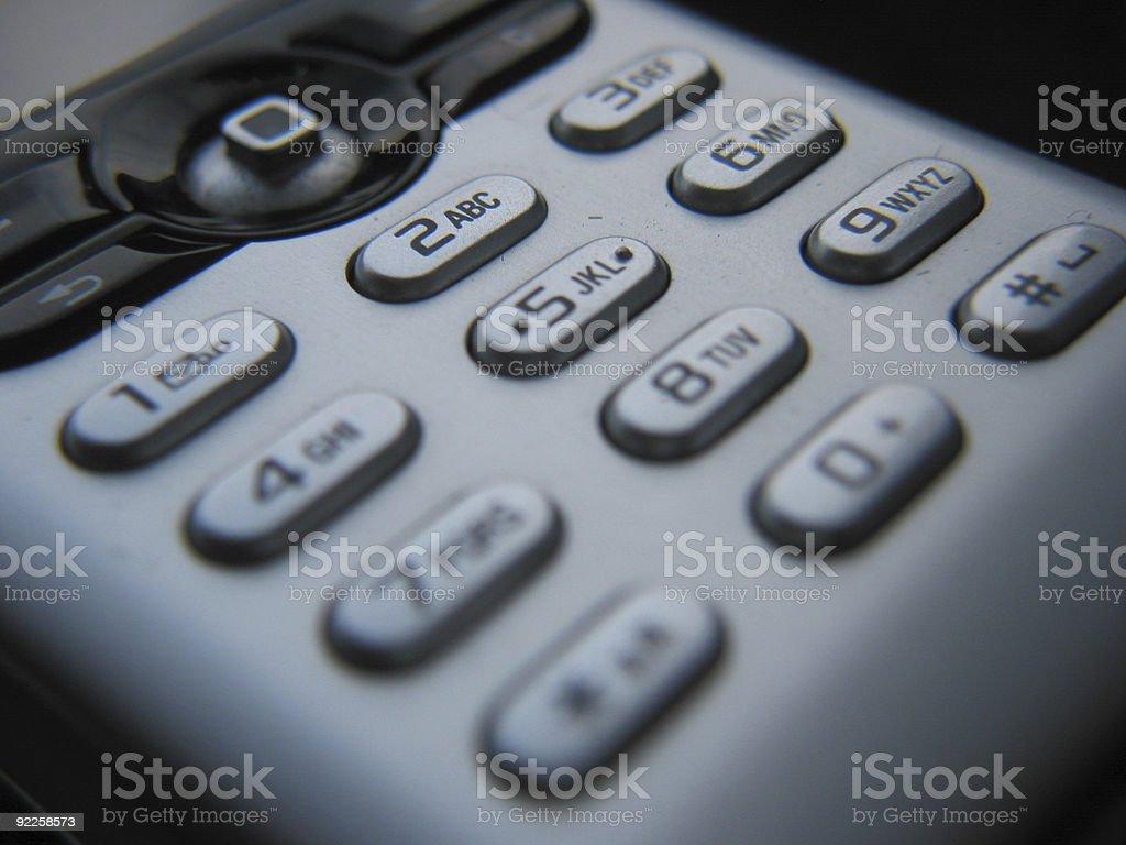 Mobile Phone Keypad royalty-free stock photo