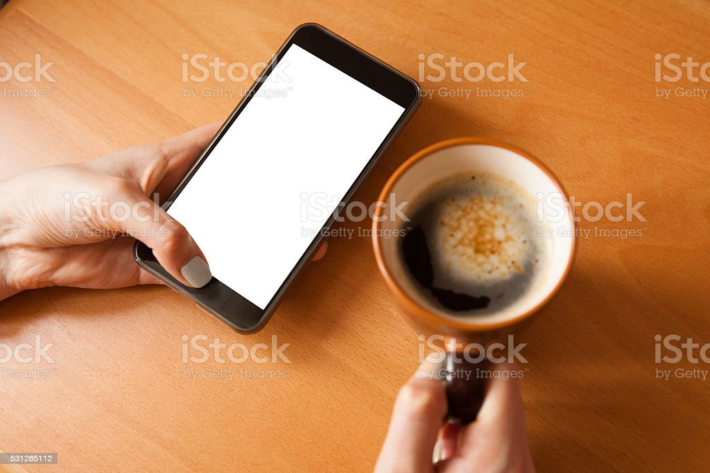 Mobile phone mockup. stock photo
