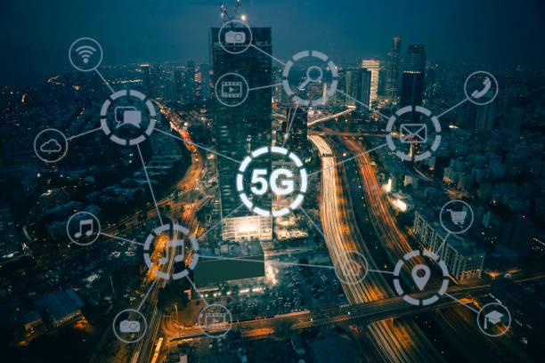 5G Mobilfunknetz Sicherheits-Verbindung Internet-Kommunikation – Foto