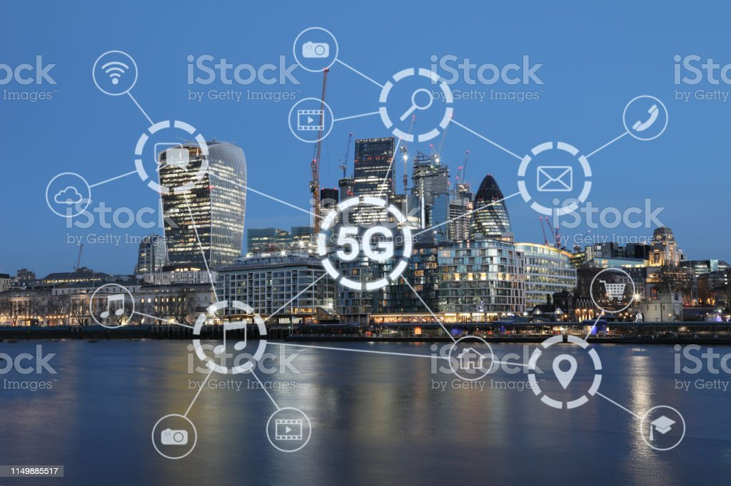 5G mobile phone network security connection internet communication 5G mobile phone network security connection internet communication 5G Stock Photo