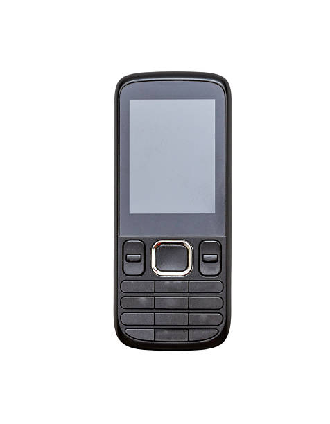 Mobile phone on white isolate with clipping path. stock photo