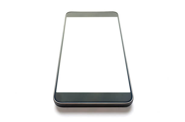 teléfono móvil vista en perspectiva - perspectiva fotografías e imágenes de stock