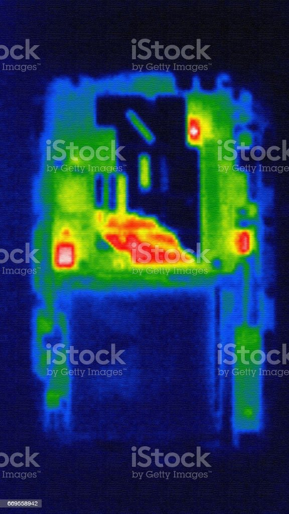 Mobile phone photo in infrared stock photo