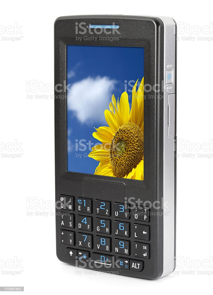 PDA mobile phone (clipping path) royalty-free stock photo
