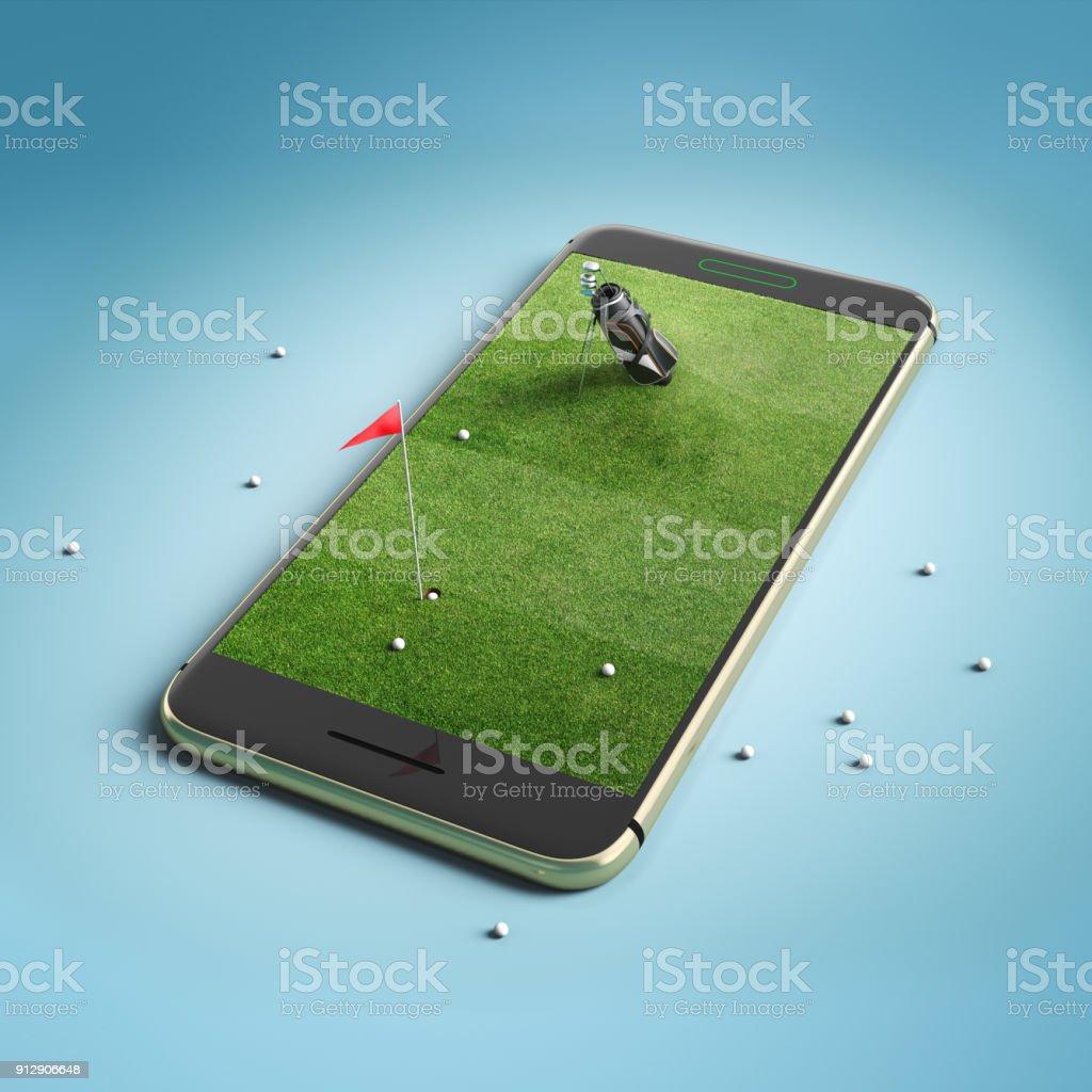 Minimal golf field background design