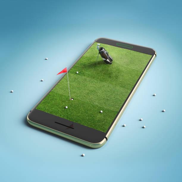 Handy-Bildschirm Golf Spiel-Konzept – Foto