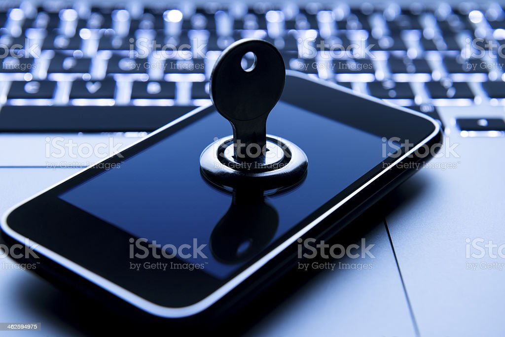 Mobile Phone Security Concept royalty-free stock photo