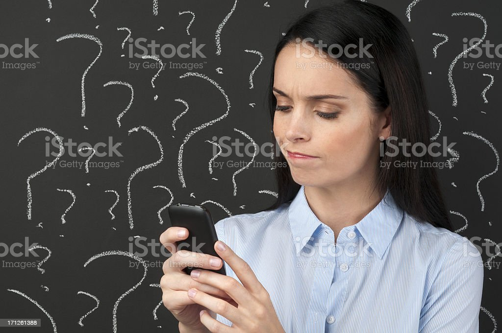 Mobile phone service concept royalty-free stock photo