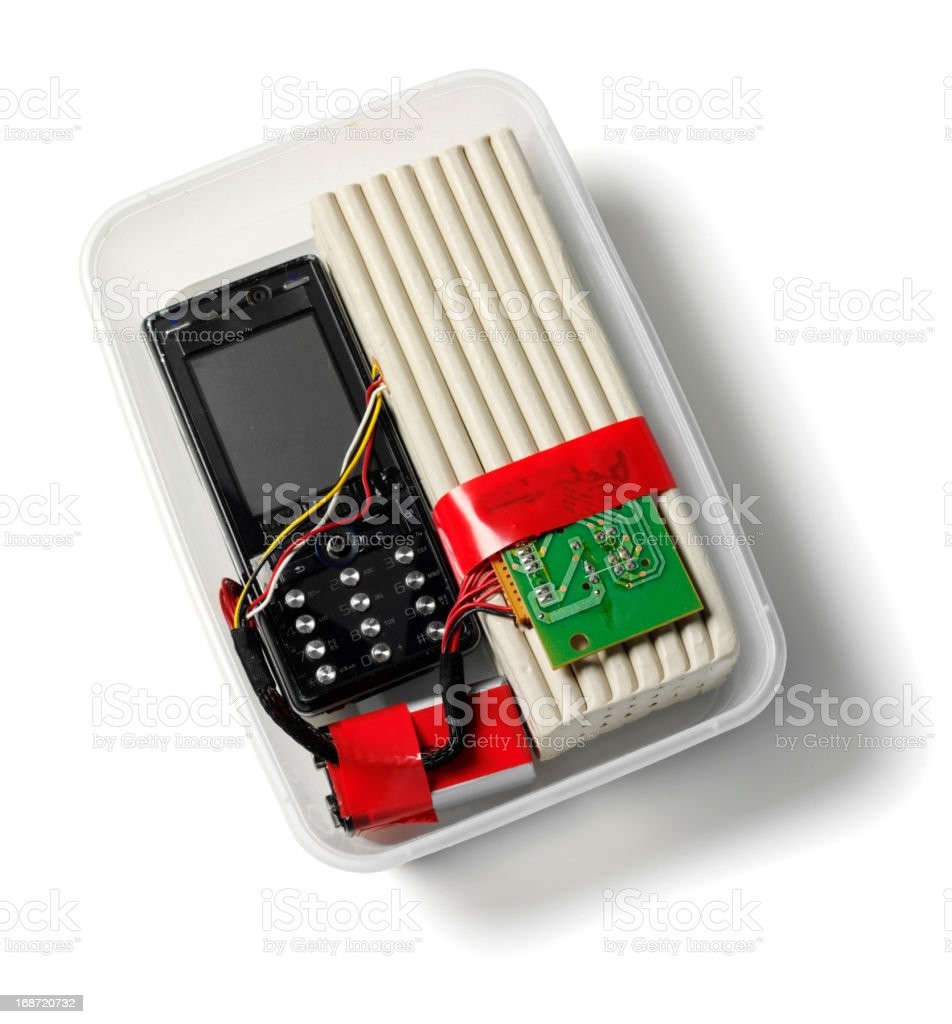 Mobile Phone Terrorist Bomb royalty-free stock photo