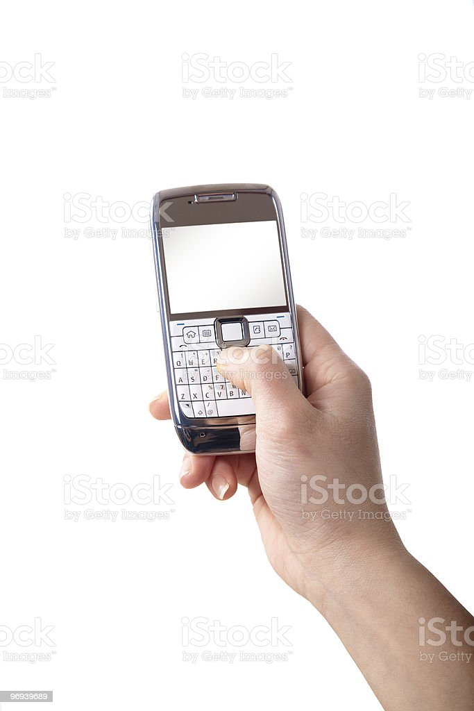 Mobile Phone Text royalty-free stock photo