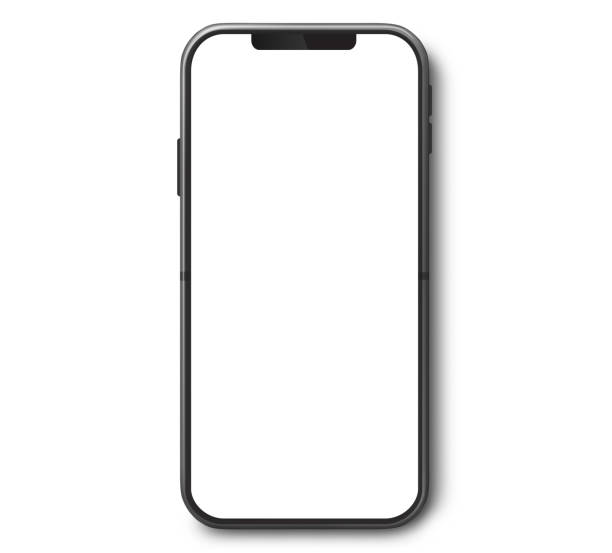 Mobile Phone Top View With White Screen Smartphone top view with white screen. phone stock pictures, royalty-free photos & images