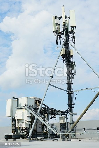 1169777785istockphoto Mobile phone towers and 5G and 4G system 1168002750