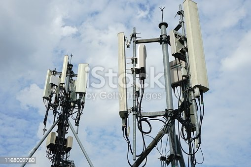 1169777785istockphoto Mobile phone towers and 5G and 4G system 1168002760