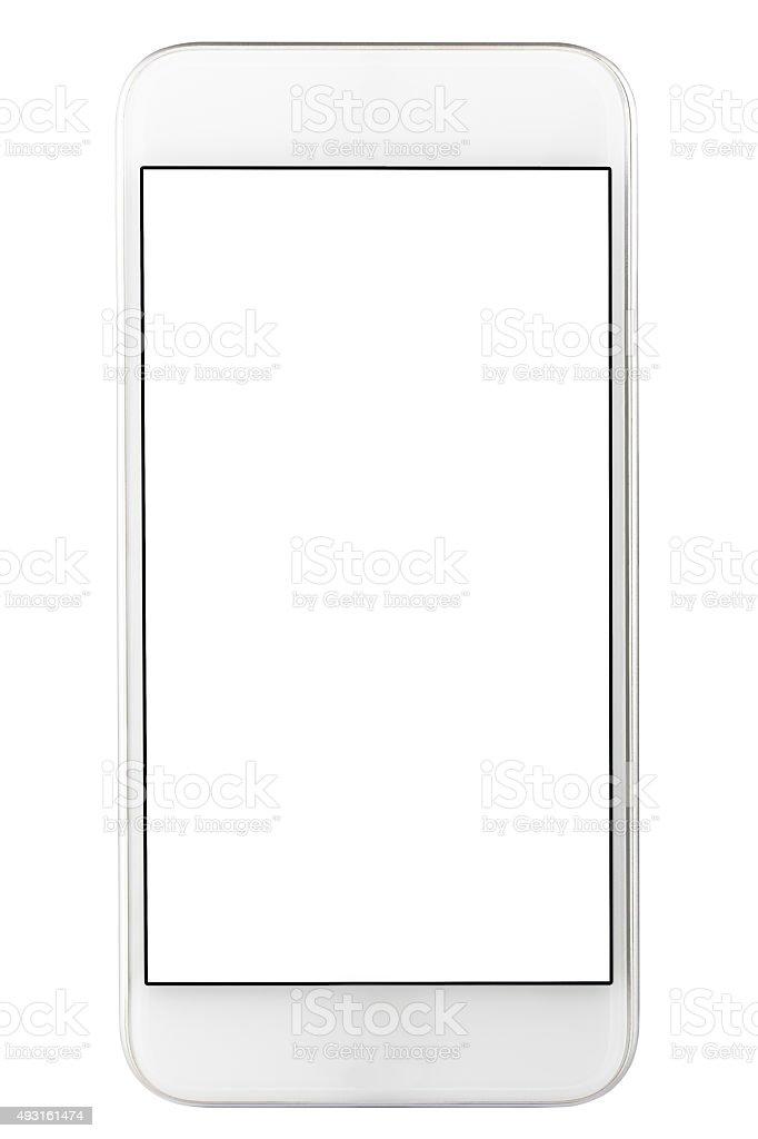 Mobile Phone White Blank Screen stock photo