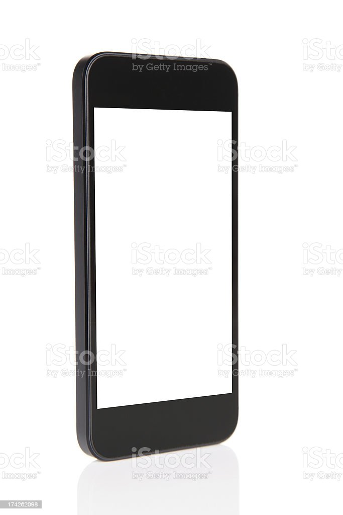 Mobile Phone With Blank Screen Isolated-XXXL stock photo