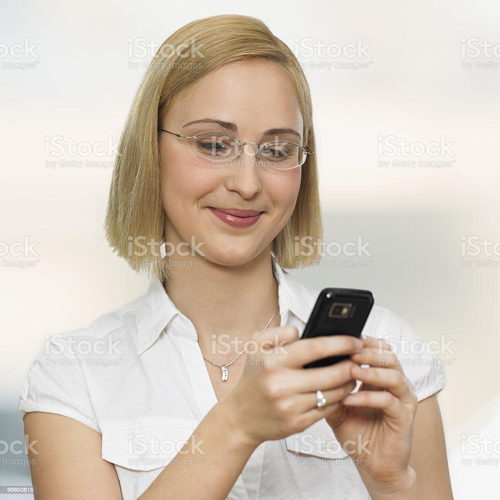 mobile - Lizenzfrei Am Telefon Stock-Foto