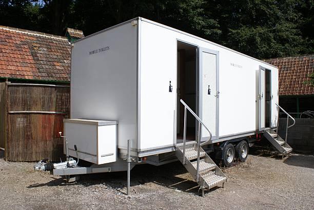 Mobile portable public toilet WC portable toilet stock pictures, royalty-free photos & images